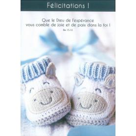 Carte simple Félicitations Chaussons - Romains 15.13