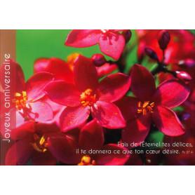 Carte simple Anniversaire Fleurs - Psaume 37.4