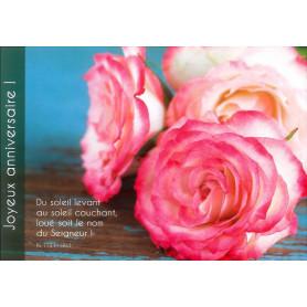 Carte simple Anniversaire Fleurs - Psaume 113(112).3