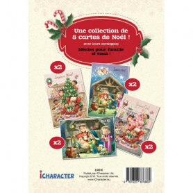 Lot de 8 cartes de Noël avec enveloppes – Agnès et Salem de Bézenac