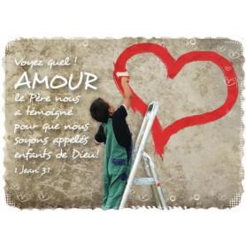 Magnet Frigo voyez quel amour le Père nous a témoigné - 1 Jean 3.1