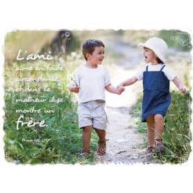Magnet Frigo L'ami aime en toute circonstance - Proverbe 17.17
