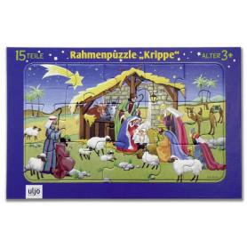 Puzzle Crèche en carton 15 pièces - 711889