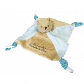 Doudou ours - Tu es né dans les mains de Dieu 25 x25 cm - 71155