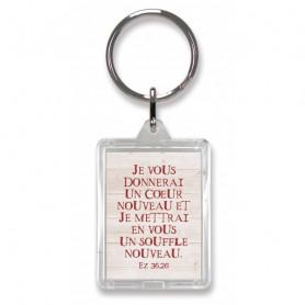 Porte-clés Je vous donnerai un coeur nouveau - Ez 36.26 - 74204