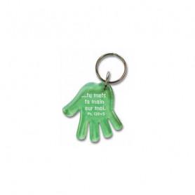 Porte-clés Main - Tu mets ta main sur moi - Ps 139.5 Vert - 729633
