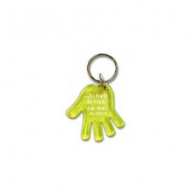 Porte-clés Main - Tu mets ta main sur moi - Ps 139.5 Jaune - 729639