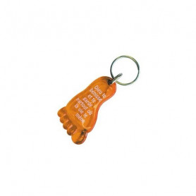 Porte-clés Pied - Dieu te bénisse Orange - 7296510