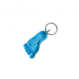 Porte-clés Pied - Dieu te bénisse Bleu - 729652