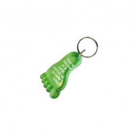 Porte-clés Pied - Dieu te bénisse Vert - 729653