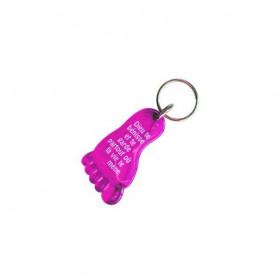Porte-clés Pied - Dieu te bénisse Rose - 729656