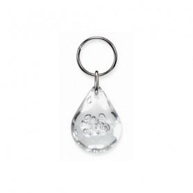 Porte-clés goutte d'eau - Dieu est la source de la vie Transparent - 7296911