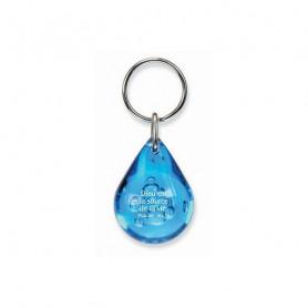 Porte-clés goutte d'eau - Dieu est la source de la vie Bleu - 729692
