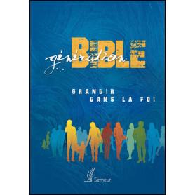 Génération Bible rigide bleue illustrée - Semeur 2015