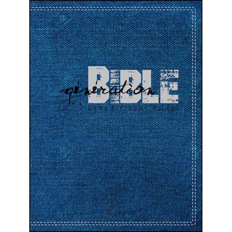 Génération Bible souple bleue jeans synthétique - Semeur 2015