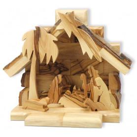 Crèche en bois d'olivier 13x15 cm – 72631 - Uljo