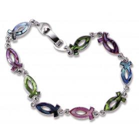Bracelet Ichthus nacré