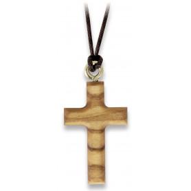 Pendentif croix en bois d'olivier avec cordon – 75179 - Uljo