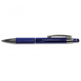 Stylo Samuel métal/alu Tu es précieux bleu - 71935 - Uljo
