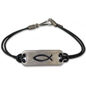 Bracelet Ichthus saved by Jesus - 71411 - Uljo