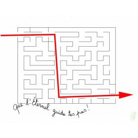 Carte simple Labyrinthe - Que l'Eternel guide tes pas!
