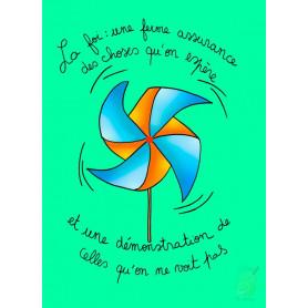 Carte simple Moulin à vent - La foi une ferme assurance des choses qu'on espère