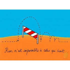 Carte simple Saut d'obstacles - Rien n'est impossible à celui qui croit