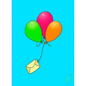 Carte simple Ballons