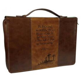 Housse de Bible Large – For God so loved