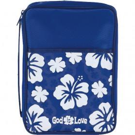 Housse de Bible Large – God is love bleu