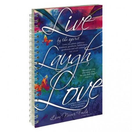 Carnet de notes Live Laugh Love - NB021