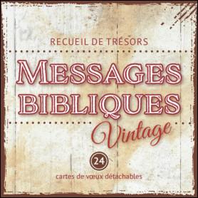 Messages bibliques Vintage - Recueil de 24 mini-cartes à spirale