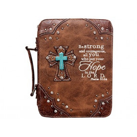 Housse de Bible Large – Hope - Brown