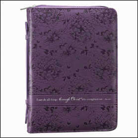 Housse de Bible Medium Floral Purple