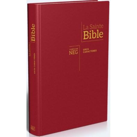 Bible NEG Gros Caractère rigide bordeaux - G11836