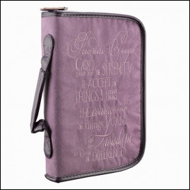 Housse de Bible Large – Serenity Prayer - Purple - BBL287