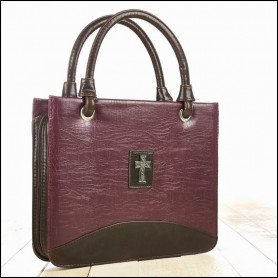Sac Housse de Bible Medium – Purple with silver cross - BBM536