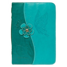 Housse de Bible Large – Butterfly - Teal
