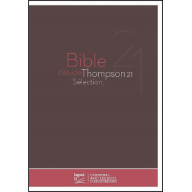 Bible Thompson Segond 21 Sélection couverture rigide
