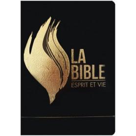 Bible Esprit et Vie Segond 1910 vinyl noir souple tranche blanche