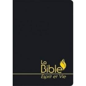 """Bible """"Esprit et Vie"""" Segond 1910 souple simili cuir tranche dorée"""
