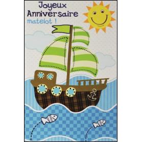 Carte double Anniversaire - Jérémie 31.3