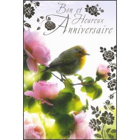 Carte double Anniversaire - Jean 4.42