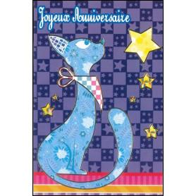 Carte double Anniversaire - Psaume 20.5