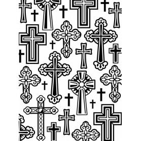 Classeur de gaufrage A6 Croix – Darice – Embossing folder Crosses