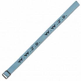 Bracelet WWJD tissé bleu clair - 750842 - Uljo