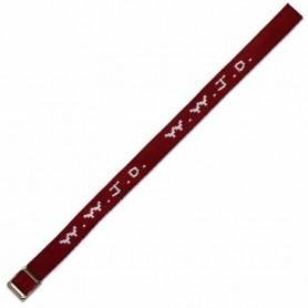 Bracelet WWJD tissé bordeaux - 750845 - Uljo