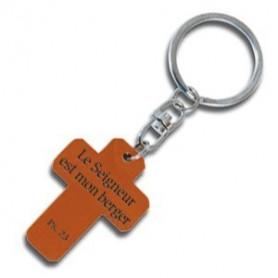 Porte-clés Croix en bois Ps 23 – 72528 - Uljo
