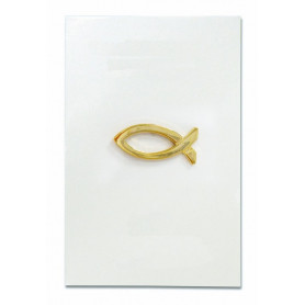Pin's Ichthus doré épais - 71580 - Uljo