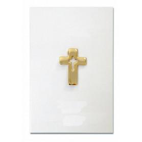 Pin's Croix évidée dorée - 71590 - Uljo